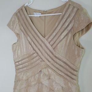 London Times Short Sleeve Sheath Dress Size 16